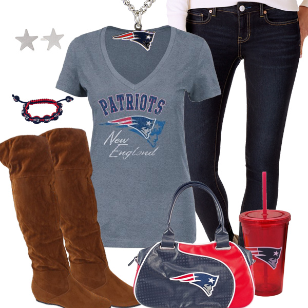 Trendy Chill New England Patriots Fan Outfit New England