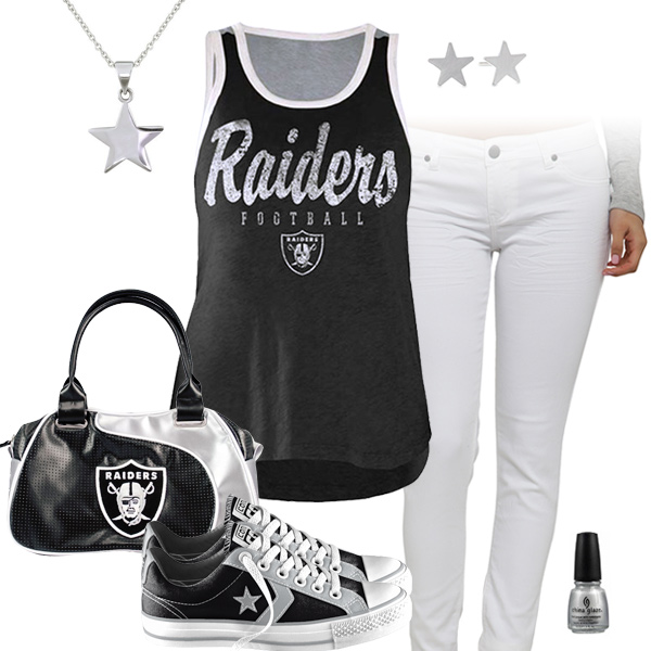 Oakland Raiders Outfit With Converse