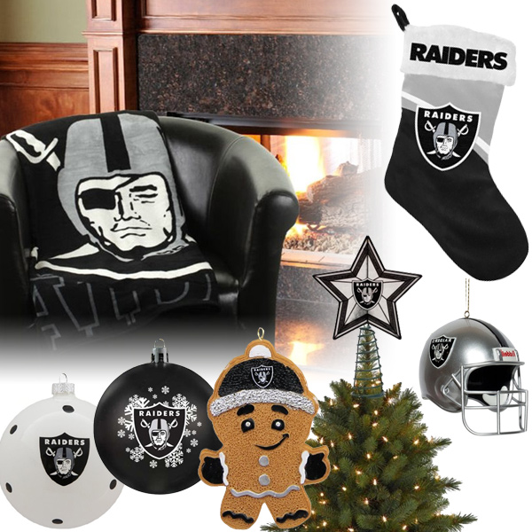 Oakland Raiders Christmas Ornaments, Oakland Raiders Christmas Stocking
