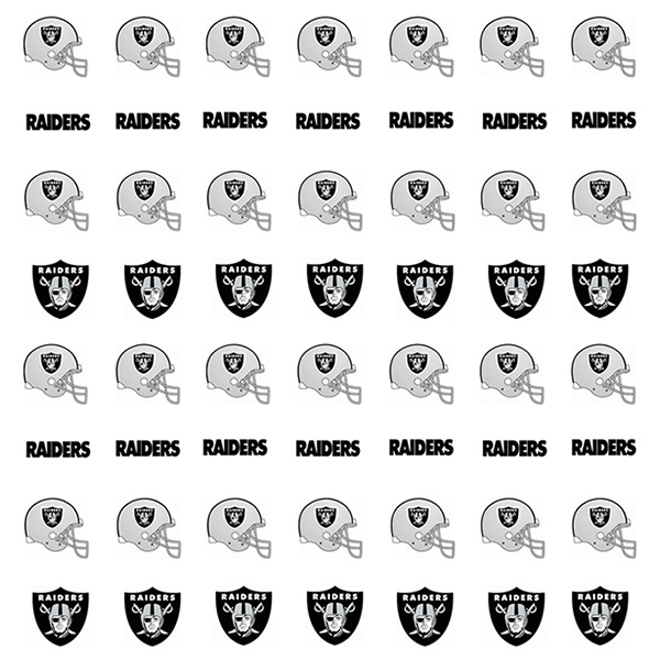Oakland Raiders Nail Stickers