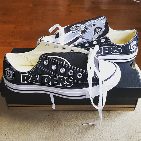 Oakland Raiders Converse Shoes