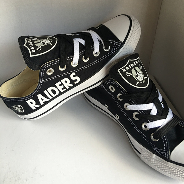 Oakland Raiders Converse Sneakers