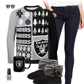 Oakland Raiders Ugly Sweater Love