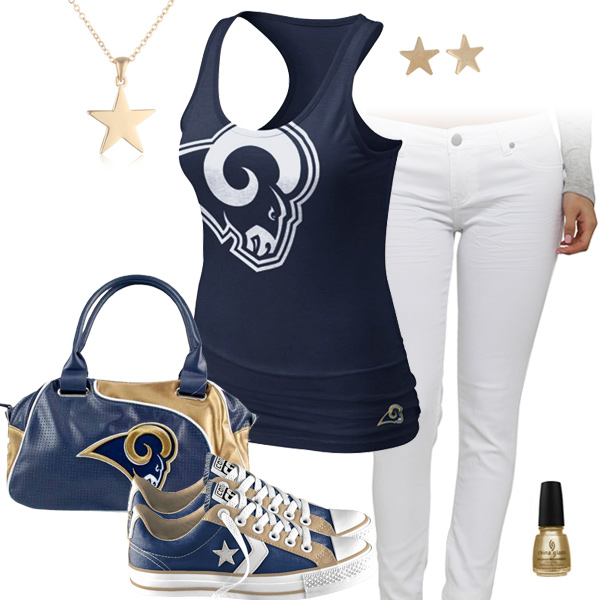 St. Louis Rams Outfit With Converse