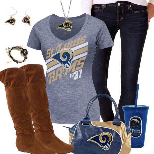 Cute St. Louis Rams Fan Outfit