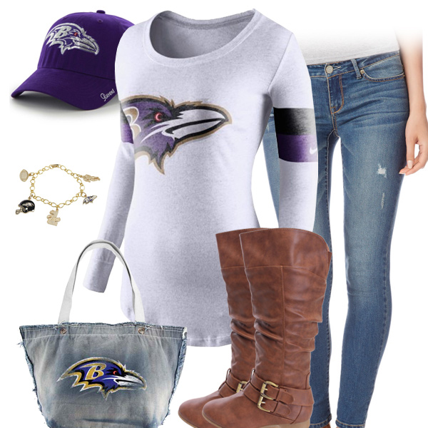 Baltimore Ravens Inspired Outfit