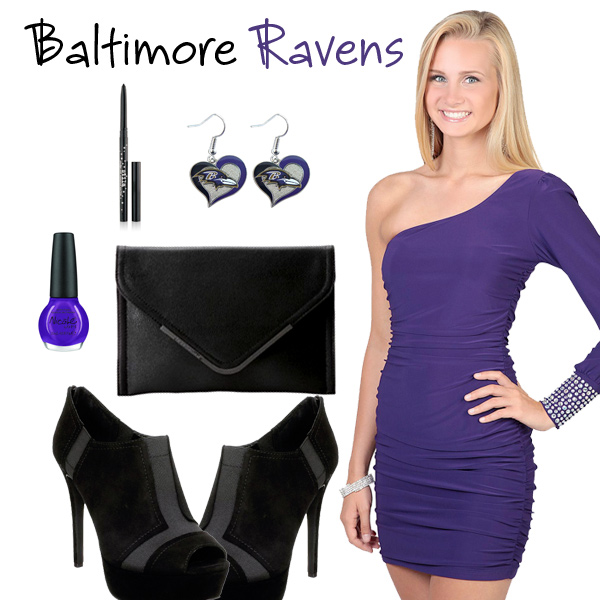 Baltimore Ravens Inspired Date Look