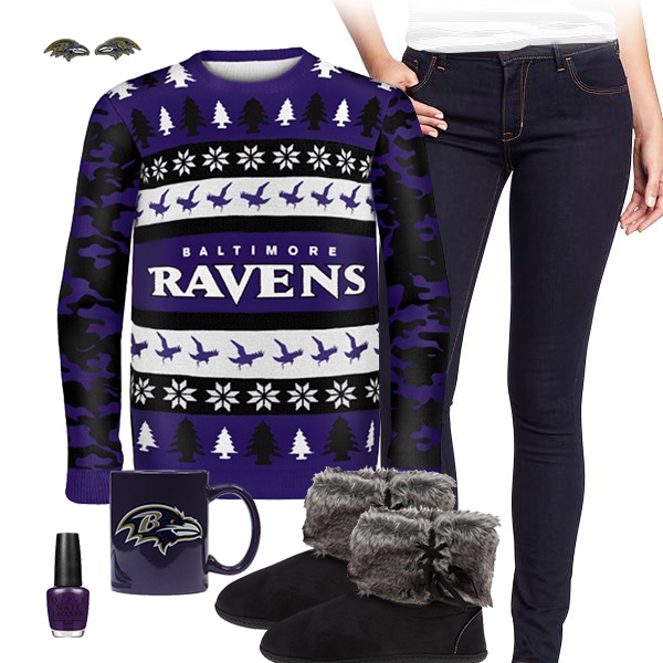 Baltimore Ravens Sweater Outfit