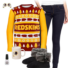 Washington Redskins Ugly Sweater Love