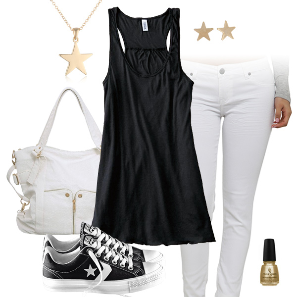New Orleans Saints Outfit With Converse ce3a84bec