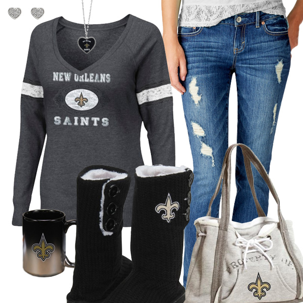 super popular a79d4 5e78d Cozy Sunday Saints Outfit, Cozy Saints Sweatshirt, Saints Mug