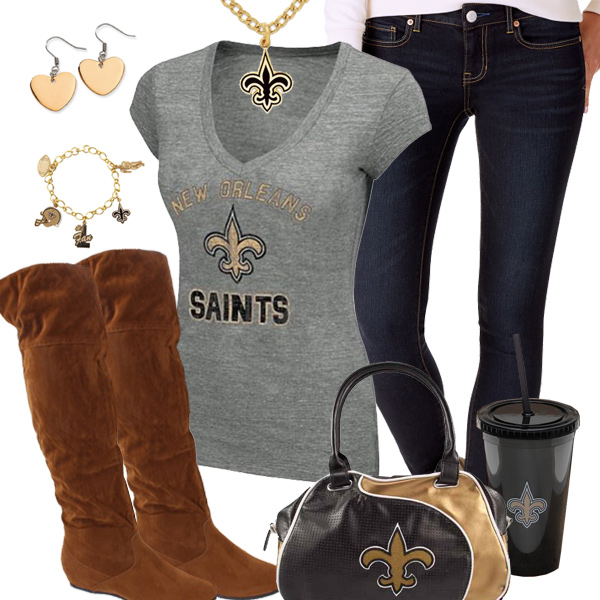 Cute New Orleans Saints Fan Outfit