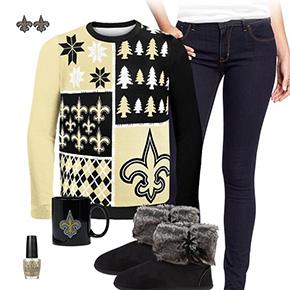 New Orleans Saints Ugly Sweater Love