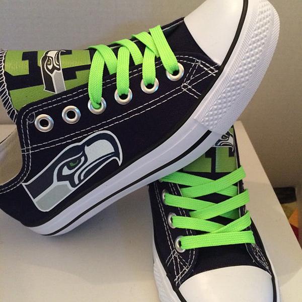 c59f2052b1e0 Seattle Seahawks Converse Sneakers. Seattle Seahawks Converse Shoes