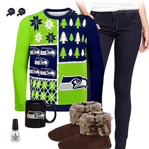 Seattle Seahawks Ugly Sweater Love