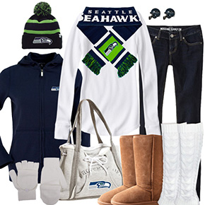 Seattle Seahawks Winter Wonder Fan