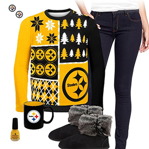 Pittsburgh Steelers Ugly Sweater Love