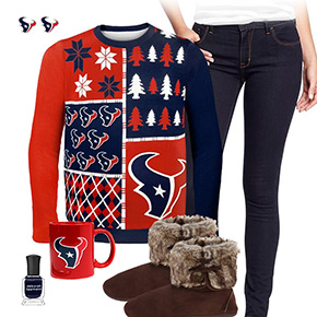 Houston Texans Ugly Sweater Love