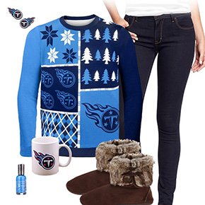 Tennessee Titans Ugly Sweater Love