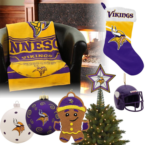 Minnesota Vikings Christmas Ornaments