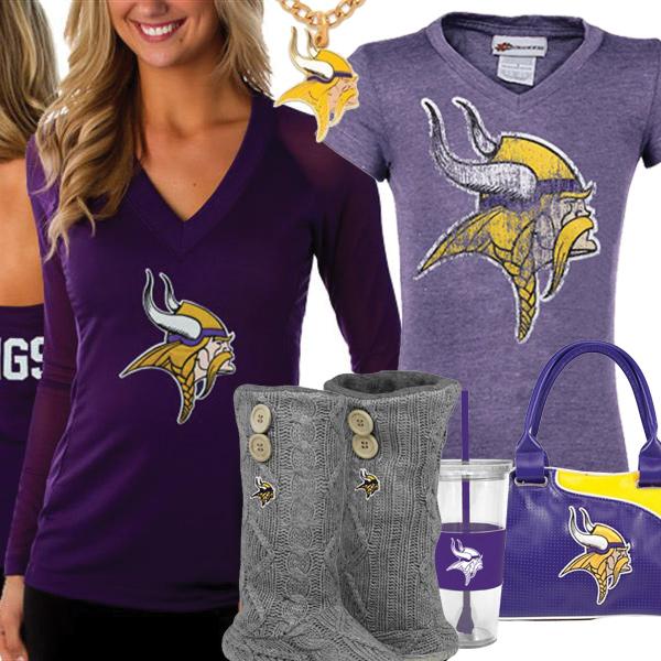 best website e21e1 874ca Cute Vikings Fan Gear