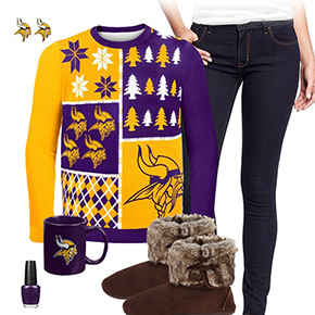 Minnesota Vikings Ugly Sweater Love