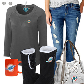 Cute Dolphins Fan Outfit