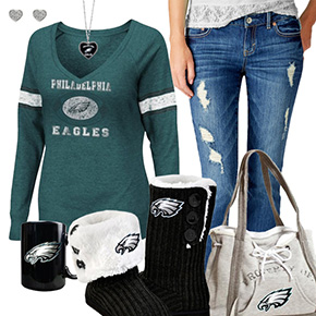 Cute Eagles Fan Outfit