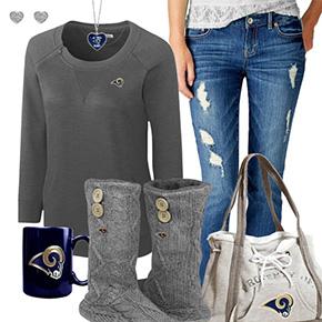 Cute Rams Fan Outfit