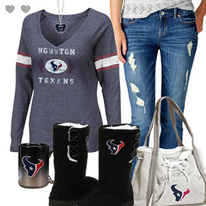 Cute Texans Fan Outfit