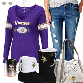 Cute Vikings Fan Outfit