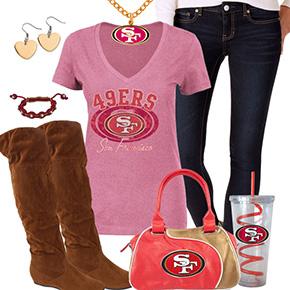 Cute San Francisco 49ers Fan Outfit