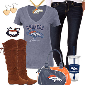Cute Denver Broncos Fan Outfit