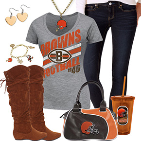 Cute Cleveland Browns Fan Outfit