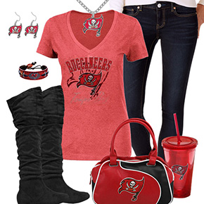 Cute Tampa Bay Buccaneers Fan Outfit