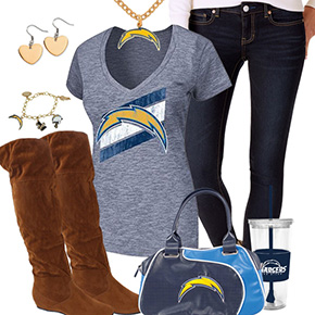 Cute San Diego Chargers Fan Outfit