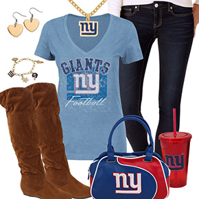 Cute New York Giants Fan Outfit