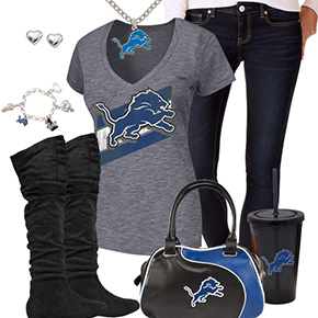 Cute Detroit Lions Fan Outfit