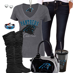 Cute Carolina Panthers Fan Outfit