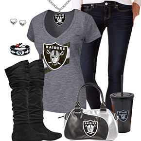 Cute Oakland Raiders Fan Outfit