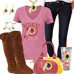 Cute Washington Redskins Fan Outfit