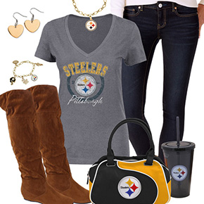 Cute Pittsburgh Steelers Fan Outfit