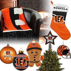 Cincinnati Bengals Christmas Ornaments
