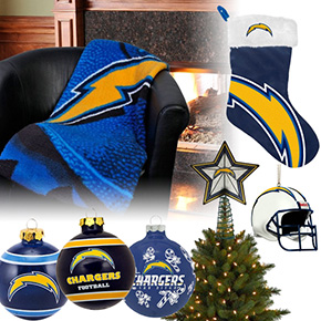 San Diego Chargers Christmas Ornaments