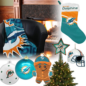 Miami Dolphins Christmas Ornaments
