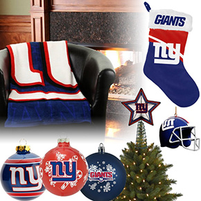 New York Giants Christmas Ornaments