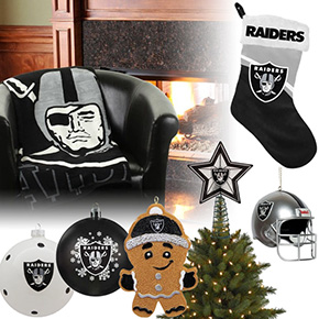 Oakland Raiders Christmas Ornaments