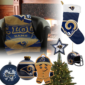 St. Louis Rams Christmas Ornaments