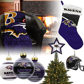 Baltimore Ravens Christmas Ornaments