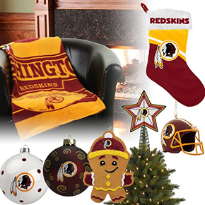 Washington Redskins Christmas Ornaments